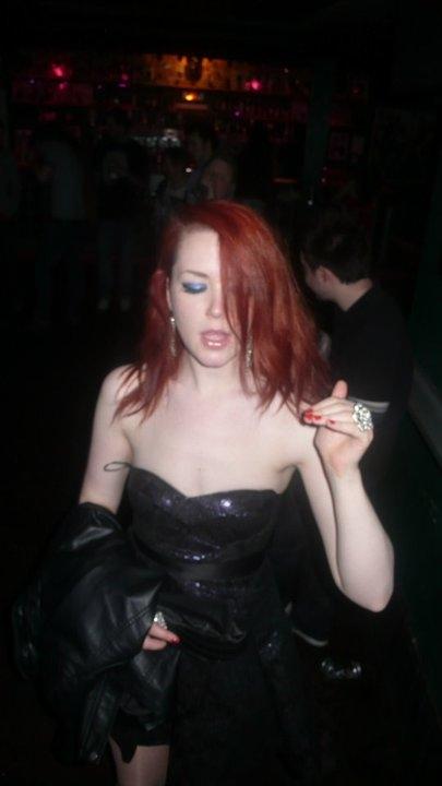 Redhead girl dancing