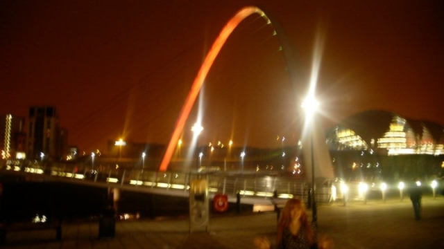 View Of Millennium Bridge Newcastle Upon Tyne