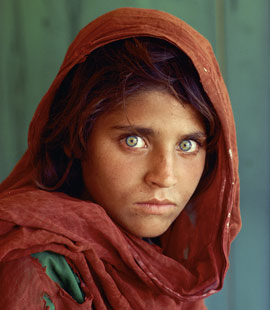 afghan girl portrait 1980s