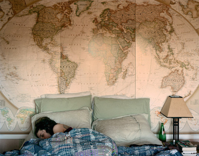 World Map Bedroom
