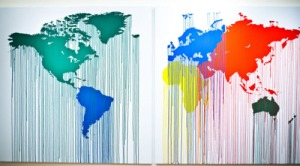 French Artist Zevs World Map