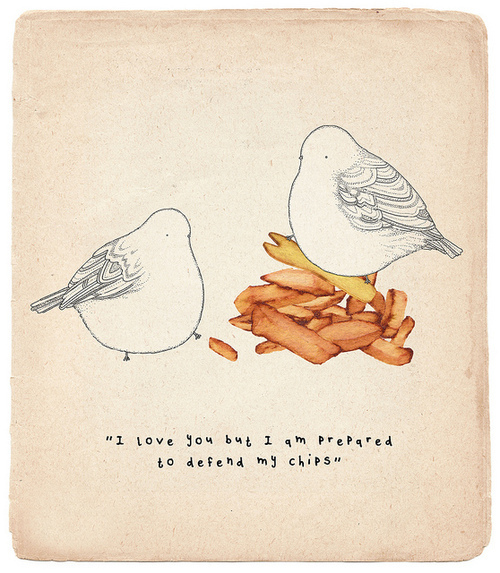 Birds & Chips Humour Cute