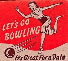 lets-go-bowling vintage poster