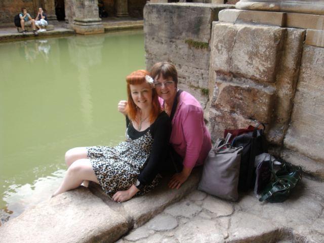 Roman Baths Bath England Me and Mom