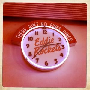 Eddie Rockets Clock Hipstamatic