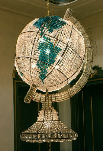 Custom Globe Crystal Chandelier