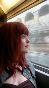 Train Journey Window View Redhead