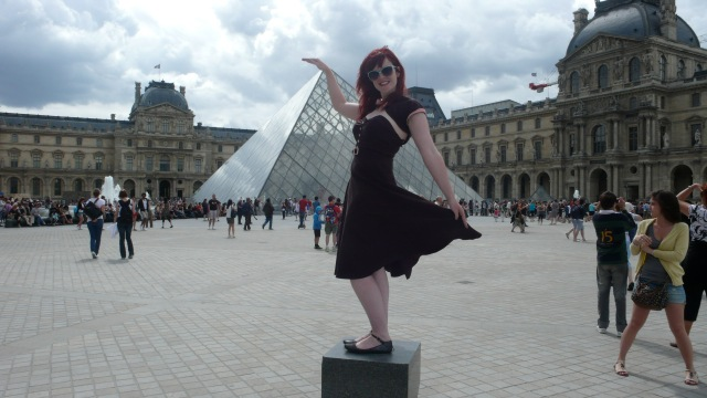 Louvre Pyramid Vintage Stop Staring Dress