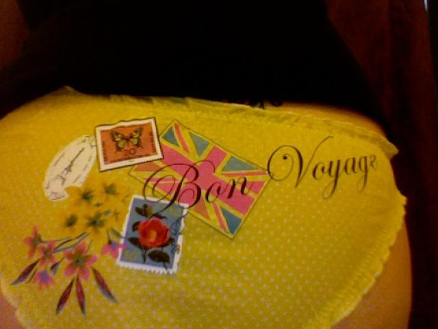 Yellow Bon Voyage Vintage Postal Knickers Accessorize