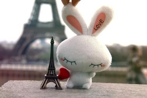 Bunny Heart Eiffel Tower