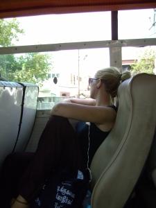 Bus ride girl