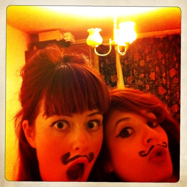 Moustached Girls