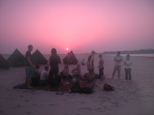 sunset the ganges