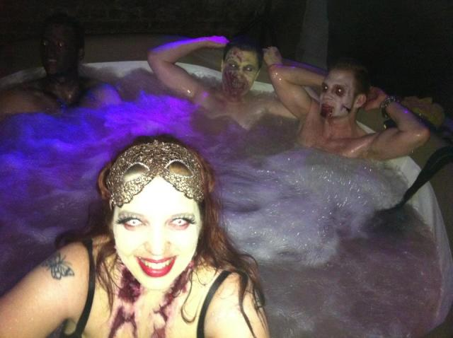 Zombies in a hottub