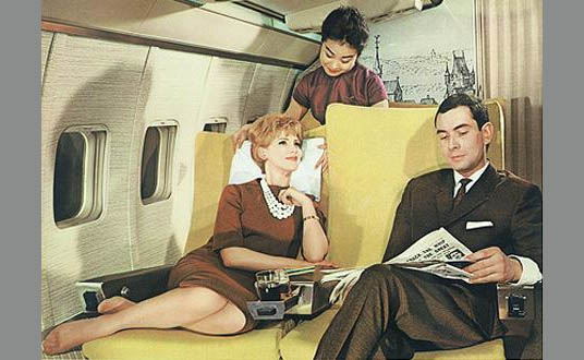 Vintage Airline Poster Glamour 50s