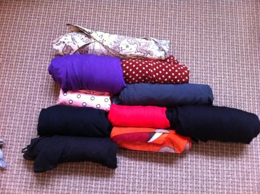 clothesrolledup