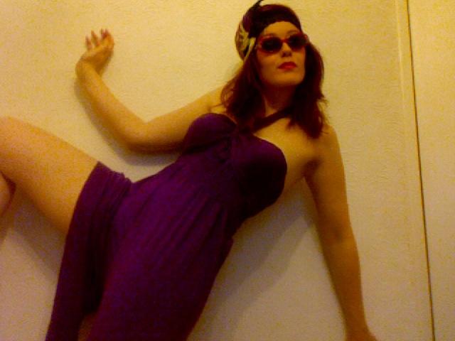 Purple Stretch Halterneck Playsuit
