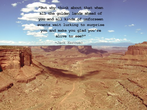 Kerouac Quote Grand Canyon