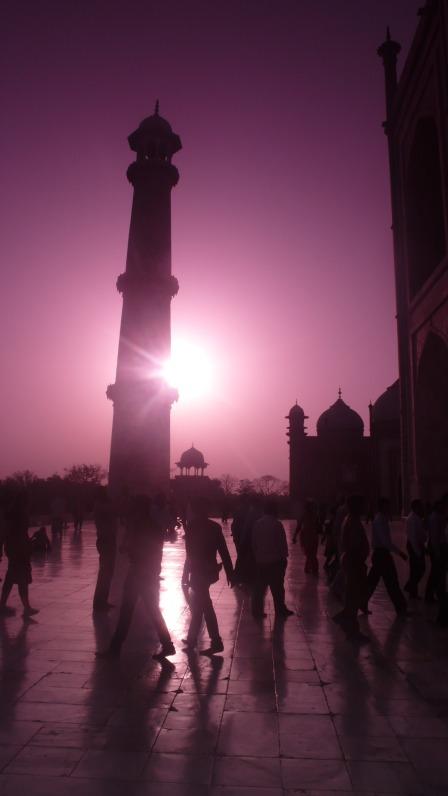 Sunset Views at the Taj Mahal