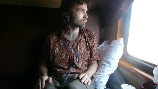 Enjoying the Indian Train Ride