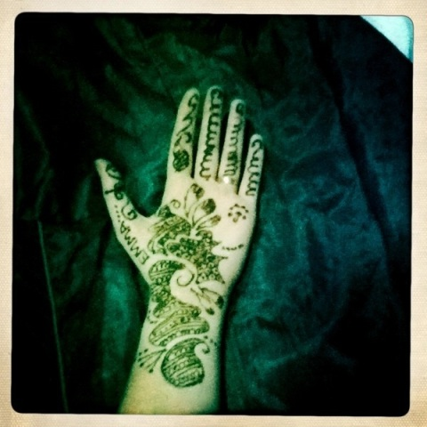 Henna Hand Art India