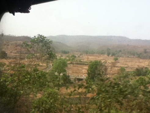View from train in India, beautiful landscapes