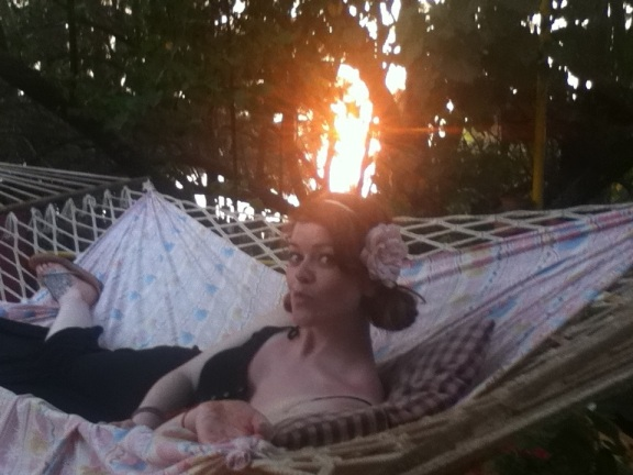 Emma Rose Black Hammock Lounging Vanilla Guesthouse Goa