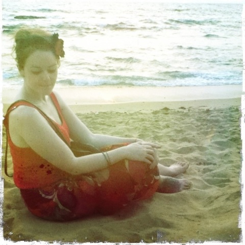 Emma Rose Black Beach Lounging Anjuna, Goa