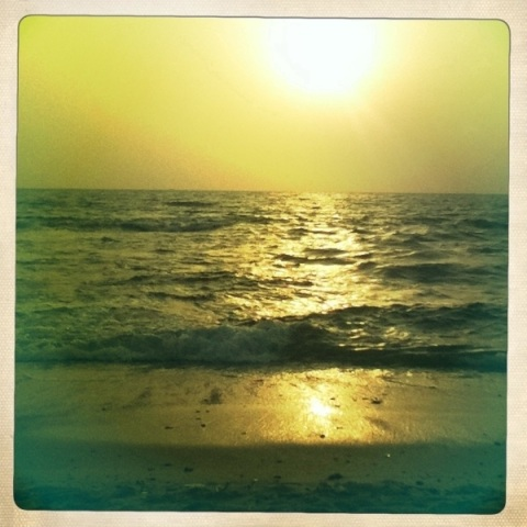 Sunset at Anjuna Beach, Goa Hipstamatic