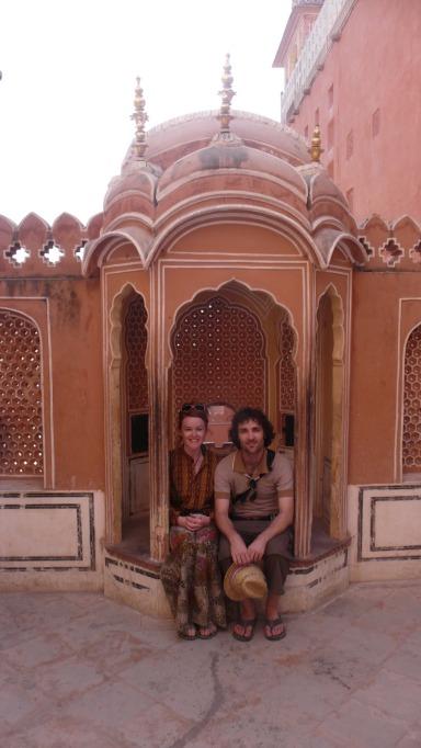 Posing inside Hawa Mahal, Jaipur