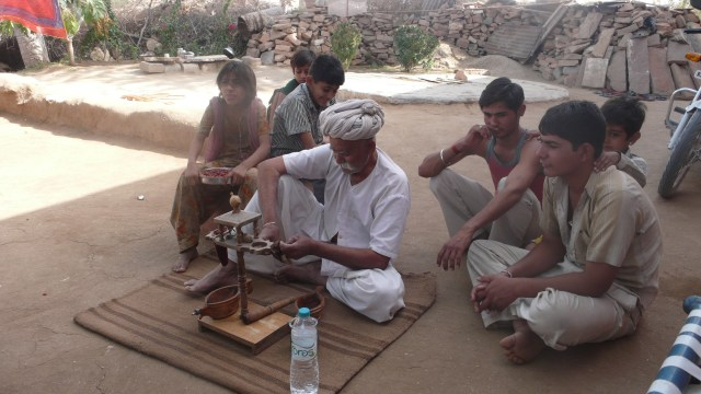 Watching a traditional Opium Tea making ceremony, India