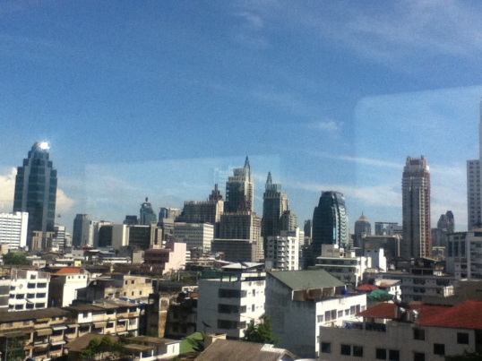 City view of Bangkok from Metro