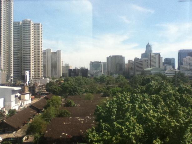 Skyscrapers and greenery in Bangkok