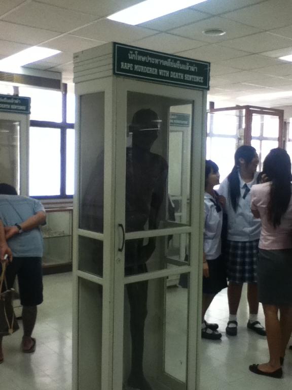 Rape murderer body at Siriraj Medical Museum Bangkok