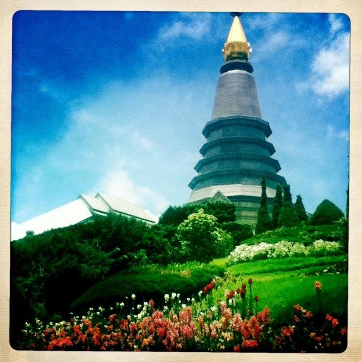 Royal Pagodas Chiang Mai Doi Inthanon National Park Hipstamatic