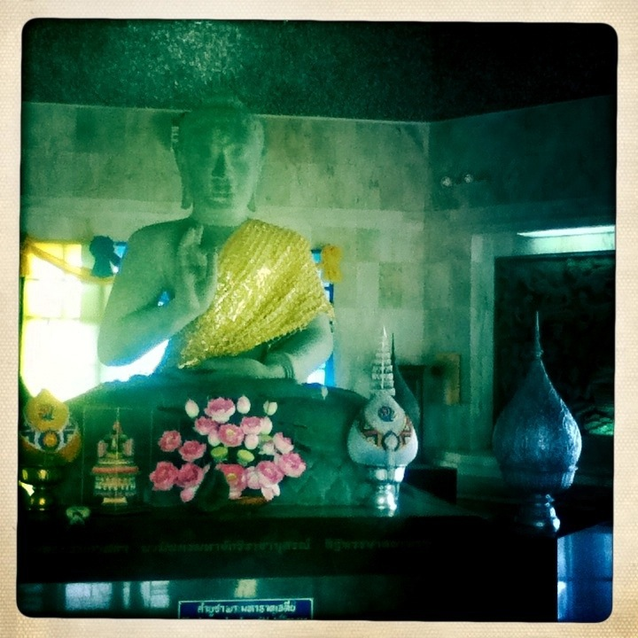 Seated buddha in Royal Pagodas Chiang Mai Doi Inthanon National Park Hipstamatic