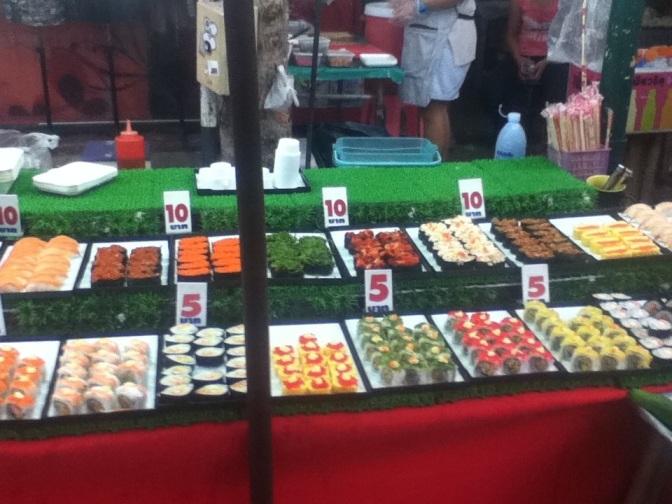 Sushi at Chiang Mai weekend market