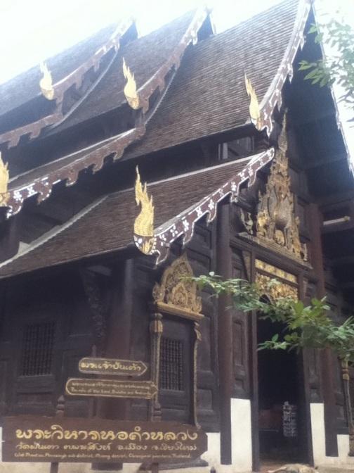 Wooden temple Wat Pan Tao in Chiang Mai
