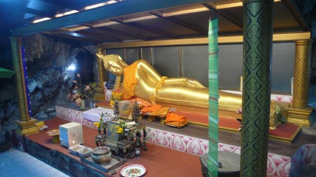 Reclining Buddha in Cave Kanchanaburi