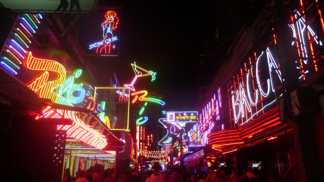 Neon Signs in Sukhumvit Bangkok Strip Clubs