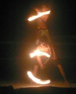 fire boys of koh samet beach performers