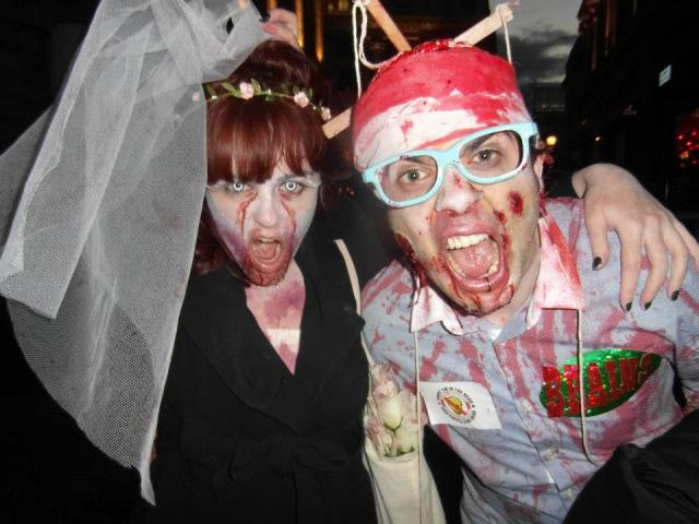 Zombie Bride and Zombie Brains from Thunderbirds World Zombie Day London