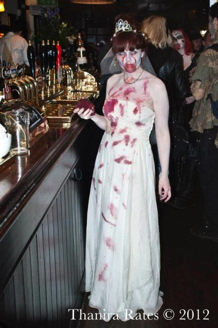 Zombie bride at world zombie day London Emma Rose Black
