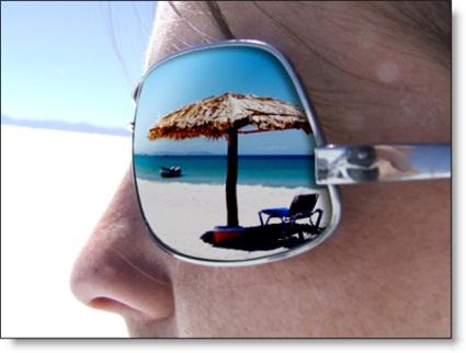 Sunglasses beach view