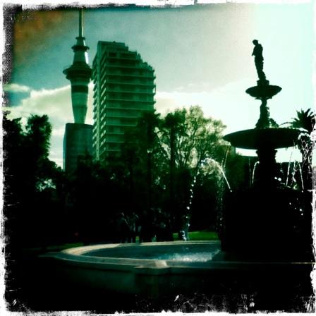 Albert Park Auckland Hipstamatic Fountain
