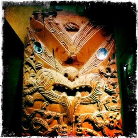 Maori carving Auckland Museum