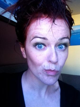 Dying hair redhead blue eyes