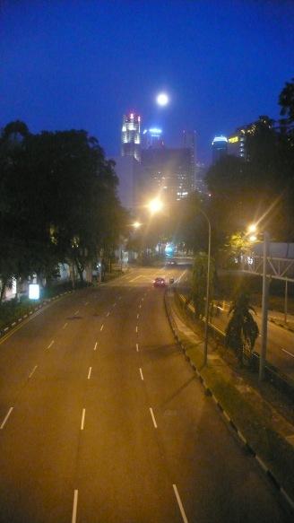 Singapore at Night Moonlight