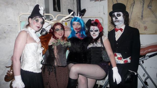 Spooky gohemian group in asylum room last tuesday society satan's rout