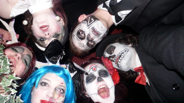 Group shot halloween last tuesday society satan's rout